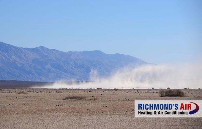 Saharan dust plume Texas